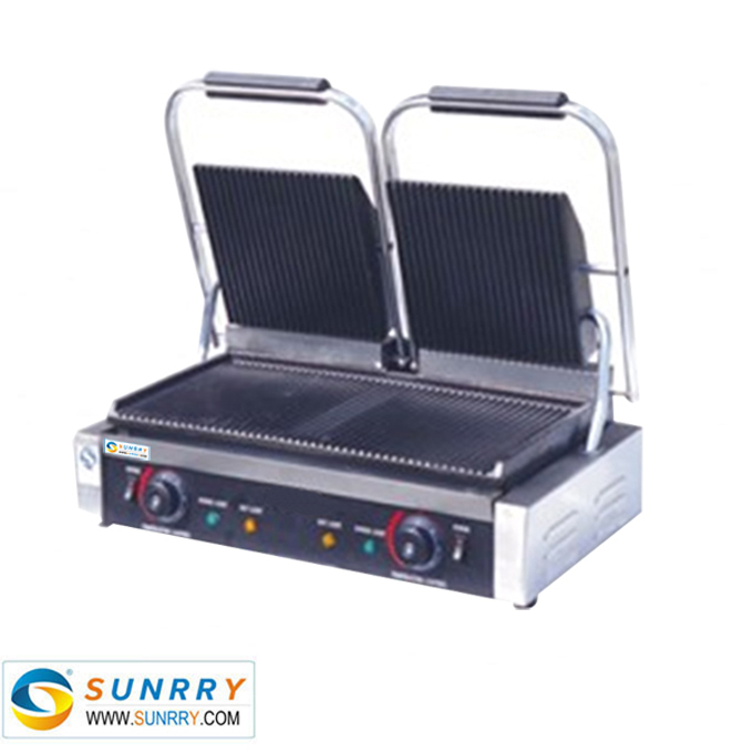 Electric Stainless Steel Double Panini Grill