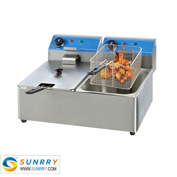 Counter Top Electric 2-Tank Fryer